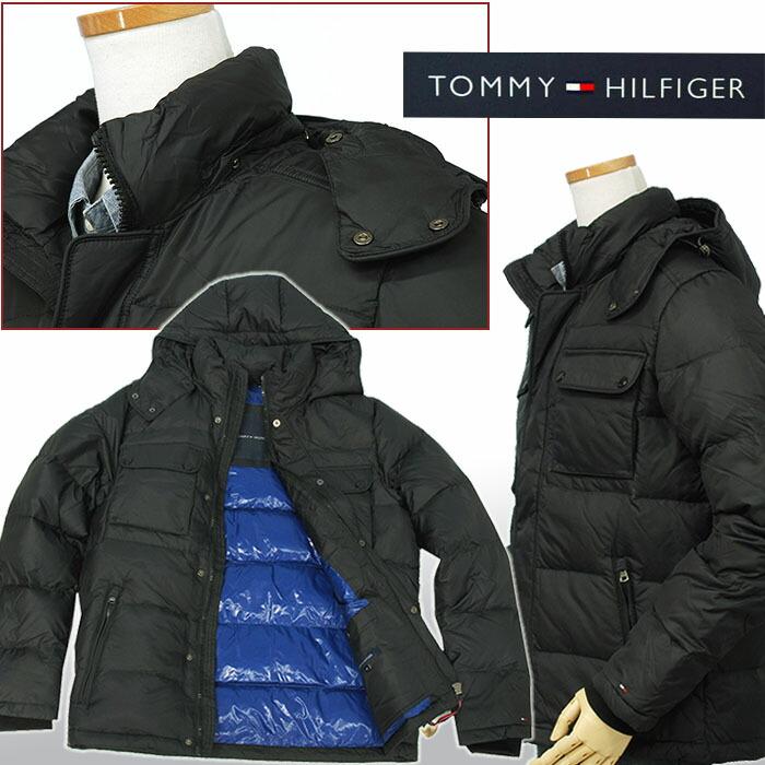 トミーヒルフィガー ハドソン フード付ダウンジャケット ブラック