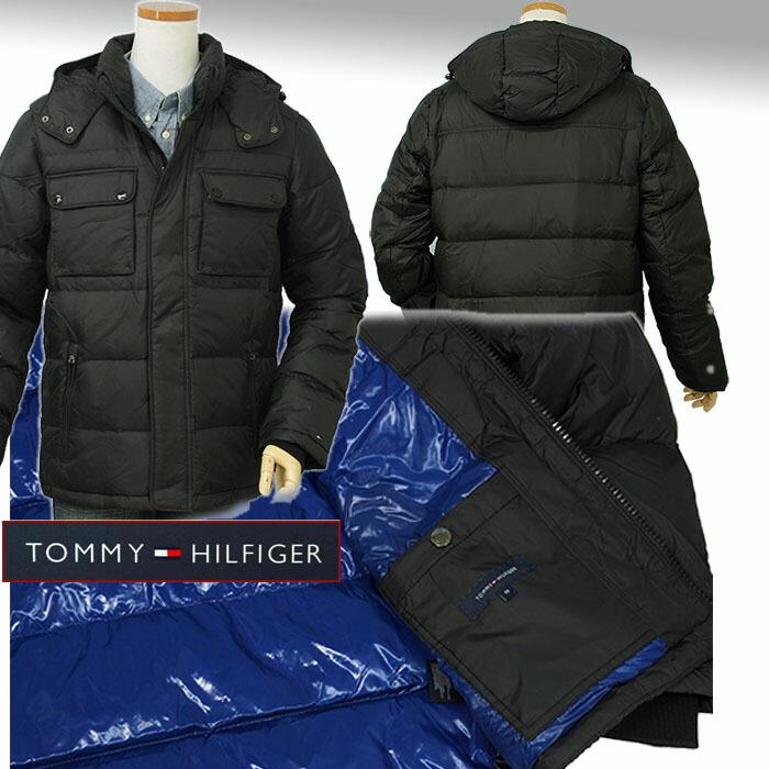 Tommy Hilfiger ハドソン フード付ダウンジャケット ブラック裏はブルーです