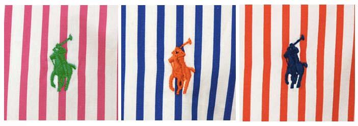 ラルフローレン長袖ストライプシャツ ピンク ブルー オレンジ