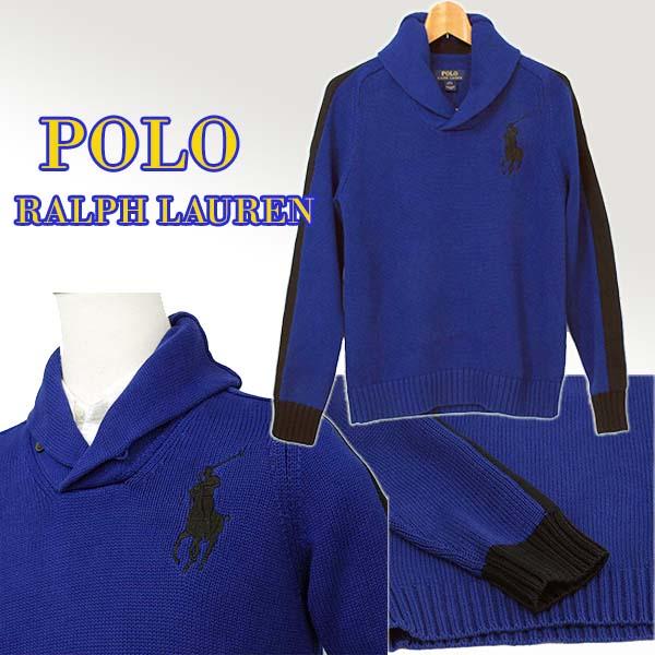 ビッグポニー ショールカラーセーター