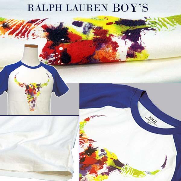 ラルフローレン ベースボールプリント半袖Tシャツ