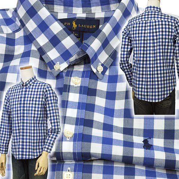 ラルフローレン ブロックチェックボタンダウンシャツ