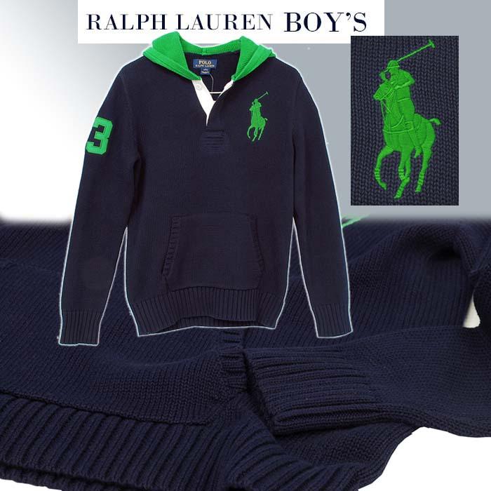 ラルフローレン ビッグポニー フード付セーター