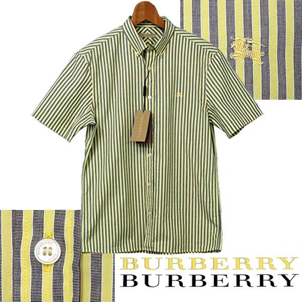 BURBERRYバーバリー マルチストライプ 半袖シャツ