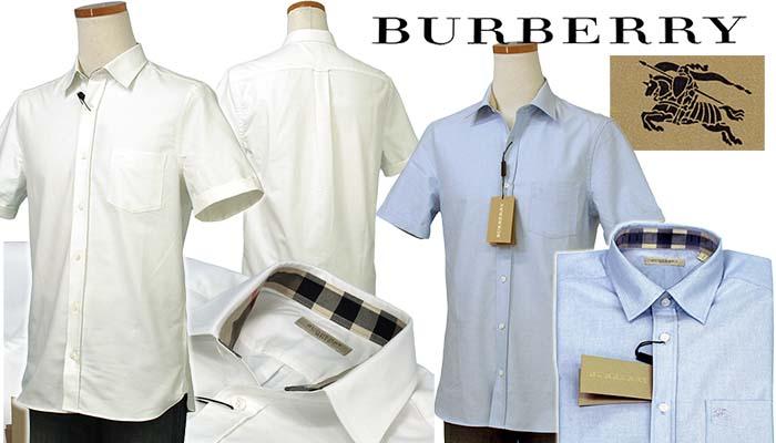 BURBERRYバーバリー ポケット付 半袖オックスフォードシャツ