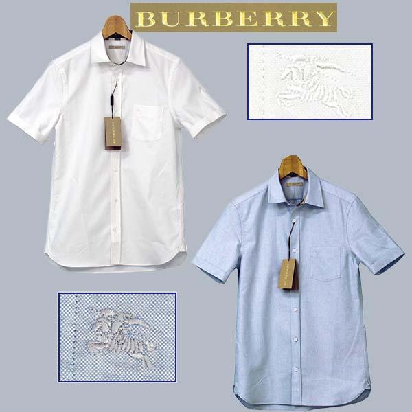 BURBERRYバーバリー ポケット付半袖オックスフォードシャツ
