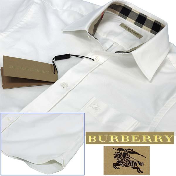 BURBERRYバーバリー ポケット付 半袖オックスフォードシャツ ホワイト
