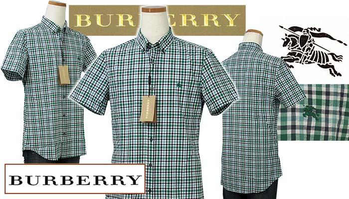 BURBERRYバーバリー マルチチェック サッカー地 半袖シャツ