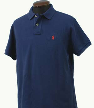 ラルフローレン 半袖 鹿の子 ポロシャツ ネイビー 紺