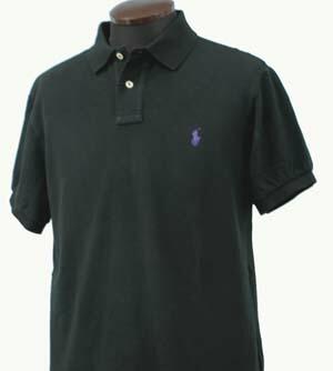 ラルフローレン 半袖 鹿の子 ポロシャツ ブラック 黒