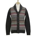 Barber BARBOUR mens V neck long sleeve Cardigan charcoal grey MARTINGALE SHAWL MKN0588 CH91 CHARCOAL
