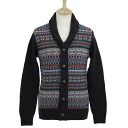 Barber BARBOUR mens V neck long sleeve Cardigan Navy MARTINGALE SHAWL MKN0588 NY91 NAVY