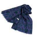 BEGG SCOTLAND / beg Scottish cashmere scarf velvet ROVING THISTLE NEUTRAL/VELVET PRINTED WISPY