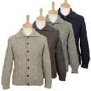 Black sheep BLACKSHEEP knit men's long-sleeved Cardigan ARAN CARDIGAN SA24 [4 colors]