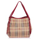 BURBERRY / Burberry bag ladies w/pouch tote bag Haymarket check LL SM CANTERBURY MCO military red 3799356 6080T MILITARY RED/HAYMARKET