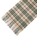 BURBERRY / Burberry cashmere scarf trench check MU ICON 168 (SCCH6 ICON) 3201298 2500 c (11113104 013) BURBERRY TRENCH CHECK