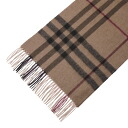 3743227 BURBERRY/ burberry cashmere muffler trench check MU GIANT ICON168 2522B SMOKED TRENCH CHECK