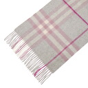 3826554 BURBERRY/ burberry cashmere muffler light gray check MU GIANT ICON168 6650B BLOSSOM CHECK