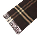 BURBERRY / Burberry cashmere scarf dark brown check MU GIANT ICON168 3826751 2097B DARK CHESTNUT BROWN CHECK BURBERRY