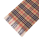 BURBERRY Cashmere and Wool-blend Scarf 94267 2010 RED BROWN CHECK (BUR_SCF_039) [fs01gm]