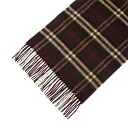 BURBERRY / Burberry cashmere scarf dark brown check MU ICON168 3826784 2097B DARK CHESTNUT BROWN CHECK BURBERRY ばーばり.