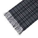 BURBERRY / Burberry cashmere scarf dark gray / light gray × black check MU ICON 168 3641956 0120C DARK CHARCOAL CHECK BURBERRY