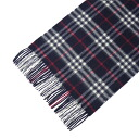 BURBERRY / Burberry cashmere scarf Navy Blue check MU ICON168 92748 4100 (3201299 4100B) (3831763 4100B) NAVY CHECK BURBERRY ばーばり.