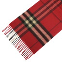 3826552 BURBERRY/ burberry cashmere muffler red check MU GIANT ICON168 6113B BRIGHT VERMILION CHECK