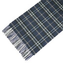 BURBERRY / Burberry cashmere scarf dark blue check MU ICON 168 3858364 4870B DARK BLUE CARBON CHK BURBERRY ばーばり.