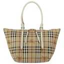 BURBERRY / Burberry ladies tote bag Haymarket check / white SM SALISBURY MCO 3882551 1040T OFF WHITE BURBERRY ばーばり.