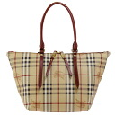 BURBERRY / Burberry ladies tote bag Haymarket check / military red SM SALISBURY MCO 3882557 6080T MILITARY RED BURBERRY ばーばり.