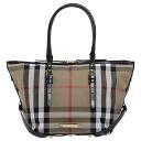 BURBERRY / Burberry ladies tote bag housecheck / black SM SALISBURY BHK 3882054 0010T BLACK BURBERRY ばーばり.