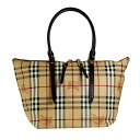 BURBERRY / Burberry ladies tote bag Haymarket check / chocolate SM SALISBURY HYM 3882392 2070T CHOCOLATE BURBERRY ばーばり.