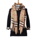 BURBERRY Cashmere and Wool-blend Scarf 94267 2500 LIGHT BEIGE (BUR_SCF_006)[TA]