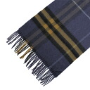 BURBERRY / Burberry cashmere scarf Navy Blue check MU GIANT ICON168 3878916 4102B NAVY BLUE BURBERRY ばーばり.