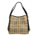3788700 BURBERRY/ burberry Lady's tote bag Haymarket check / black SM CANTERBURY MCO 0010T BLACK