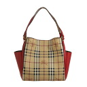 3914514 BURBERRY/ burberry Lady's tote bag Haymarket check / Brightman rose red SM CANTERBURY HBC 6639T BRIGHT ROSE