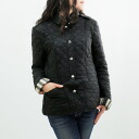 3786803 00100 BURBERRY/ burberry Lady's quilting jacket black KENCOTT L8361 BLACK BURBERRY BRIT ばーばりー