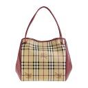 3925591 BURBERRY/ burberry tote bag Lady's Haymarket check / azalea pink SM CANTERBURY 6111T PINK AZALEA