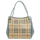 3939899 BURBERRY/ burberry bag lady tote bag Haymarket check / slate blue SM CANTERBURY HMK SLATE BLUE