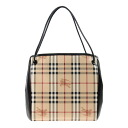 BURBERRY / Burberry bags ladies tote bag Haymarket check / black SM CANTERBURY 3925595 0010T BLACK