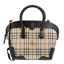 3942625 BURBERRY/ burberry bag lady 2WAY handbag Haymarket check / chocolate brown MD PRIMROSE HYM 2070T CHOCOLATE