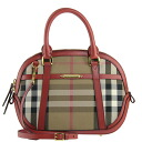 Military red SM ORCHARD 3903900 COCA 6080T MILITALY RED / BURBERRY / Burberry bag ladies 2-WAY handbag House check