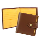 Ettinger /ETTINGER財 cloth men's 2 fold wallet with coin into Havana Brown bridle leather PURSE NOTECASE WITH 4 c/c SLOTS BH178JR HAVANA BRIDLE HIDE COLLECTION
