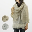 In FALIERO SARTI / ファリエロサルティ scarf beige and light gray DIANORA I14 0037 30179 BEIGE/31065 LIGHT GREY ファリエロサルティー
