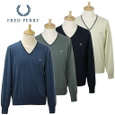 30432003 fred perry men V neck long sleeves knit [all four colors] SAND DYED FINISH FRED PERRY