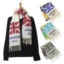 GLEN PRINCE / Prince Glen SLS15 LONDON 2012 [4 colors] muffler Union Jack pattern 2012 London Olympics commemorative model sousou script