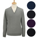 Smedley JOHN SMEDLEY mens V neck long sleeve knitted MENS PULLOVER SLIM FIT [full color]