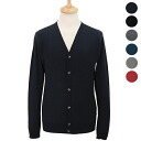 Smedley JOHN SMEDLEY mens V neck long sleeve Cardigan MENS CARDIGAN SLIM FIT [full color]