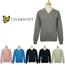Lyle & Scot men long sleeves V neck knit [all six colors] VINTAGE JE788V02 MNS PLANE VNPO LYLE&SCOTT [Lyle and Scot]